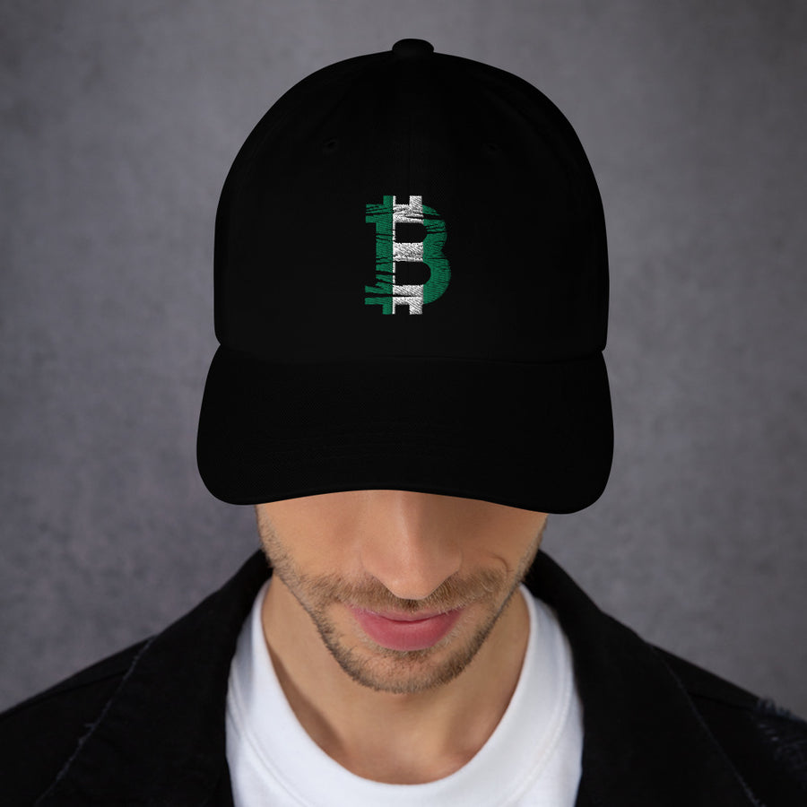 Bitcoin Nigerian flag Dad Hat