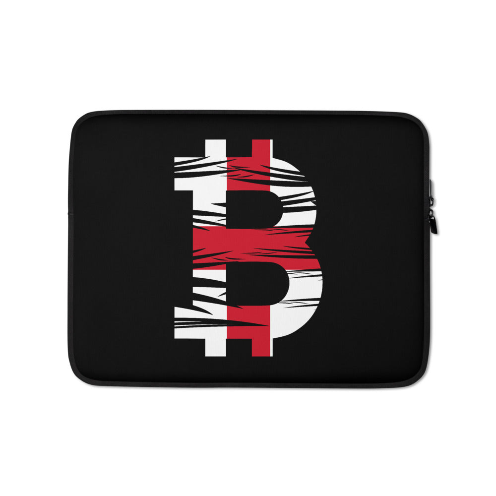 Bitcoin English Flag Laptop Sleeve