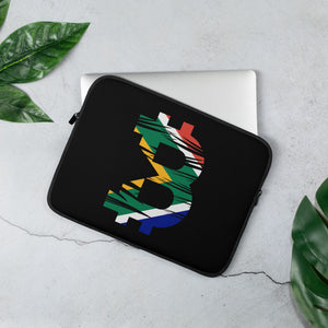 Bitcoin South African Flag Laptop Sleeve