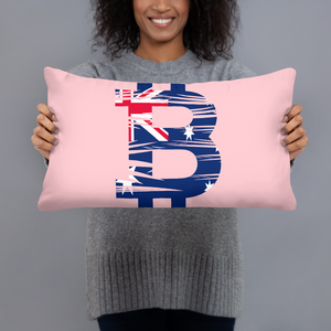 '' Bitcoin Australian flag '' Pillow