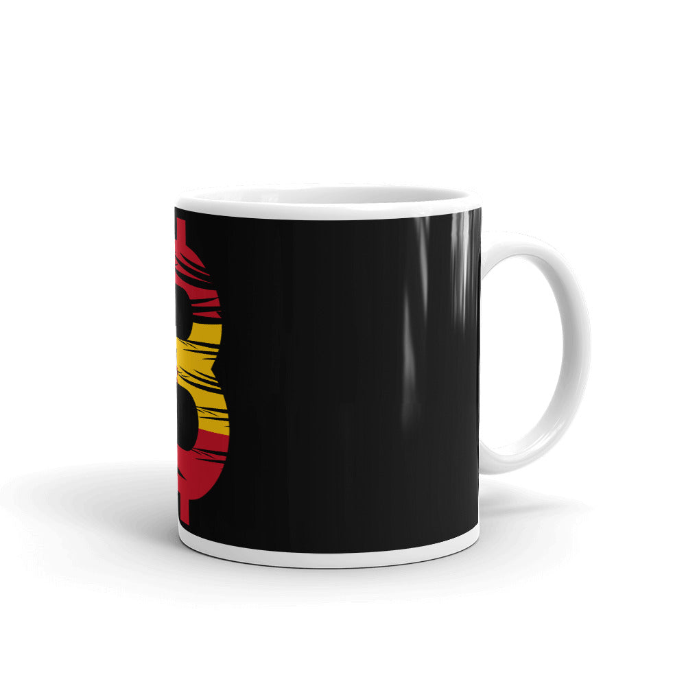 Bitcoin Spanish Flag Mug