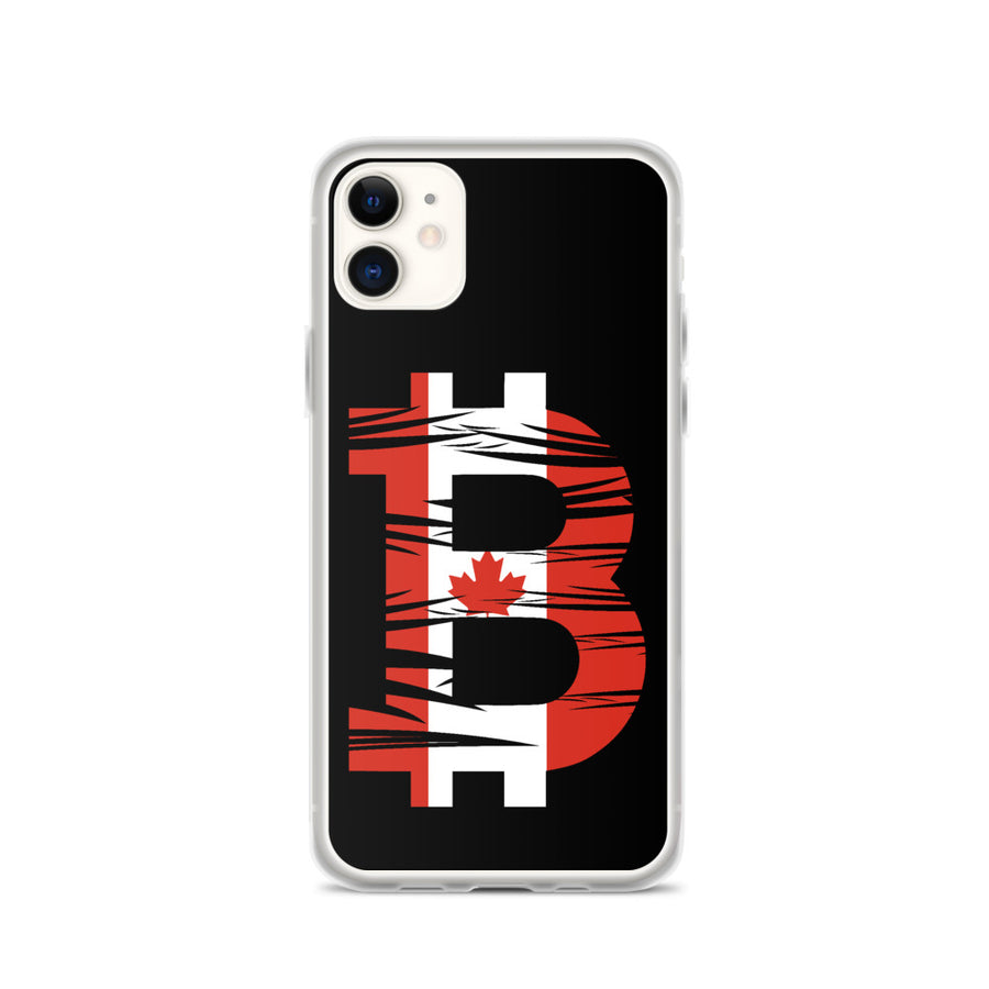 Canadian Bitcoin Flag iPhone Case