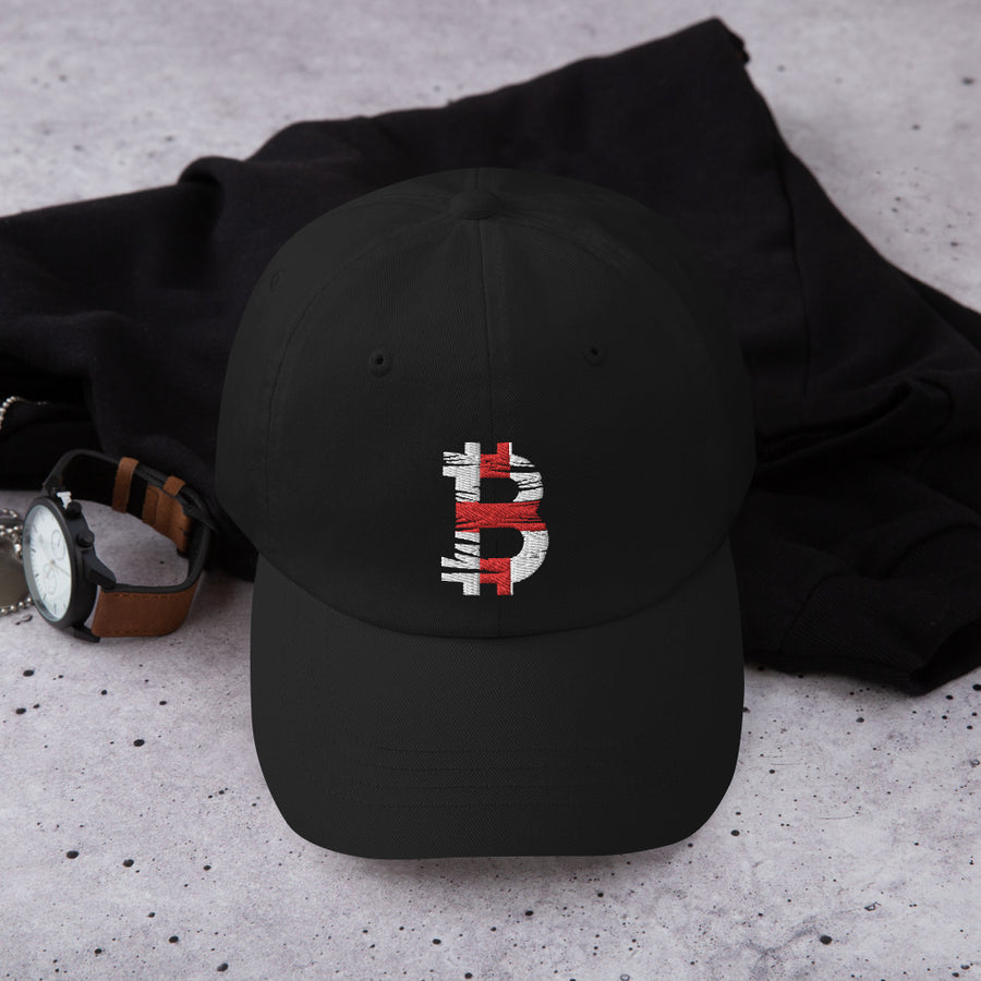 Bitcoin English flag Dad Hat