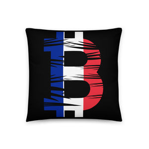 Bitcoin French Flag Basic Pillow