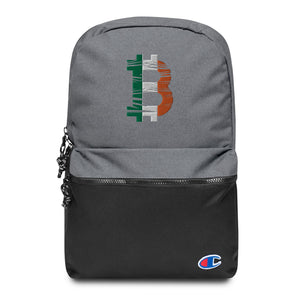 Bitcoin Ireland Flag Embroidered Champion Backpack