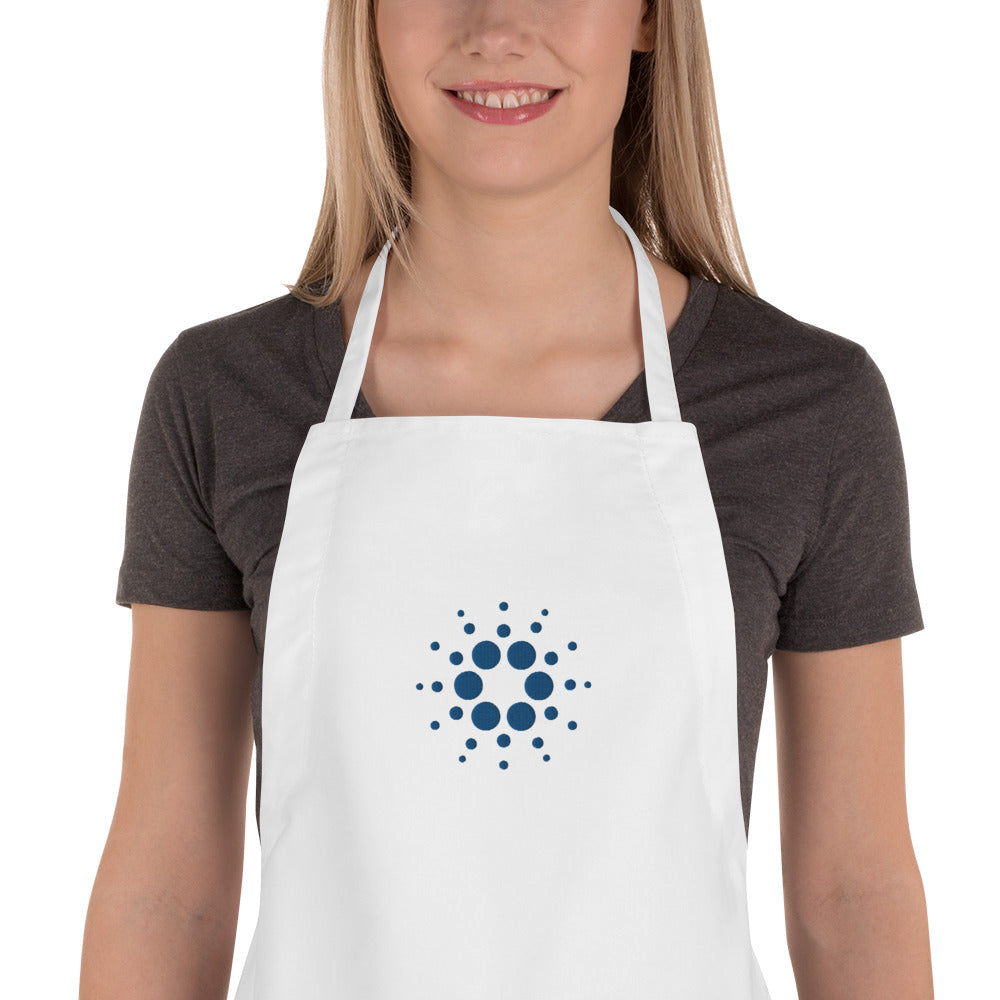 Embroidered Apron cardano logo