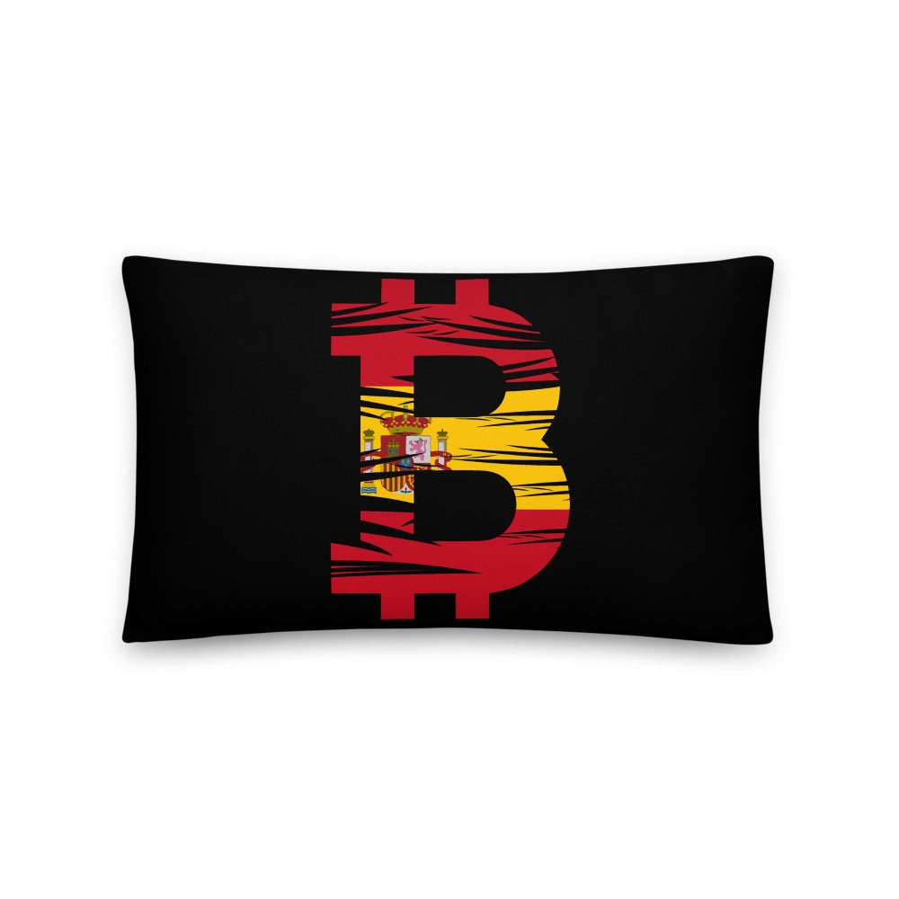 Bitcoin Spanish Flag Basic Pillow