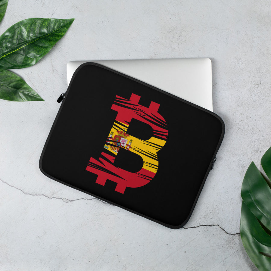 Bitcoin Spanish Flag Laptop Sleeve