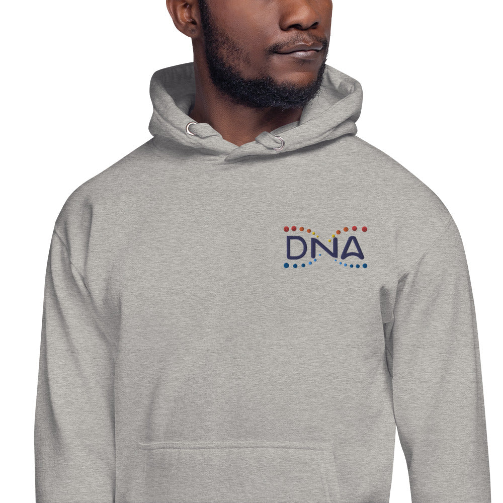 DNA Metaverse Embroidered Hoodie (Unisex / Colored Logo)