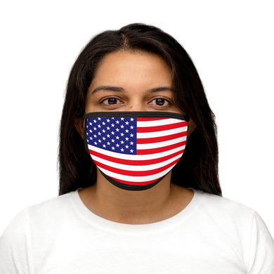 USA FLAG Mixed-Fabric Face Mask