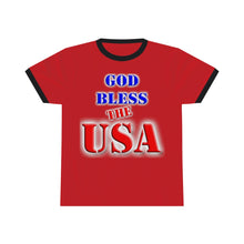 Load image into Gallery viewer, GOD BLESS THE USA Ringer Tee