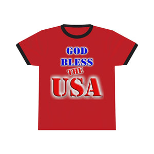 GOD BLESS THE USA Ringer Tee