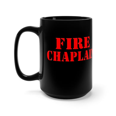 FIRE CHAPLAIN Black Mug 15oz