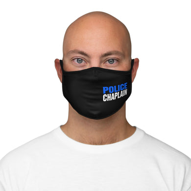 POLICE CHAPLAIN BLUE Fitted Polyester Face Mask