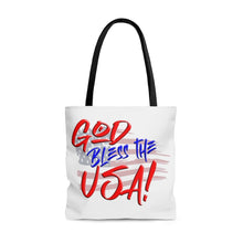 Load image into Gallery viewer, GOD BLESS THE USA Tote Bag