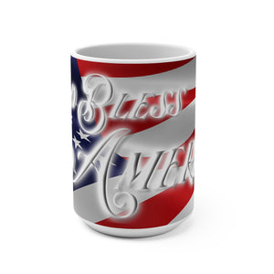 GOD BLESS AMERICA Mug 15oz