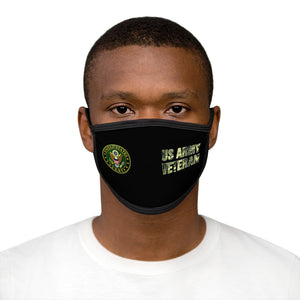 US ARMY VETERAN Mixed-Fabric Face Mask
