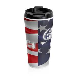 GOD BLESS AMERICA Stainless Steel Travel Mug