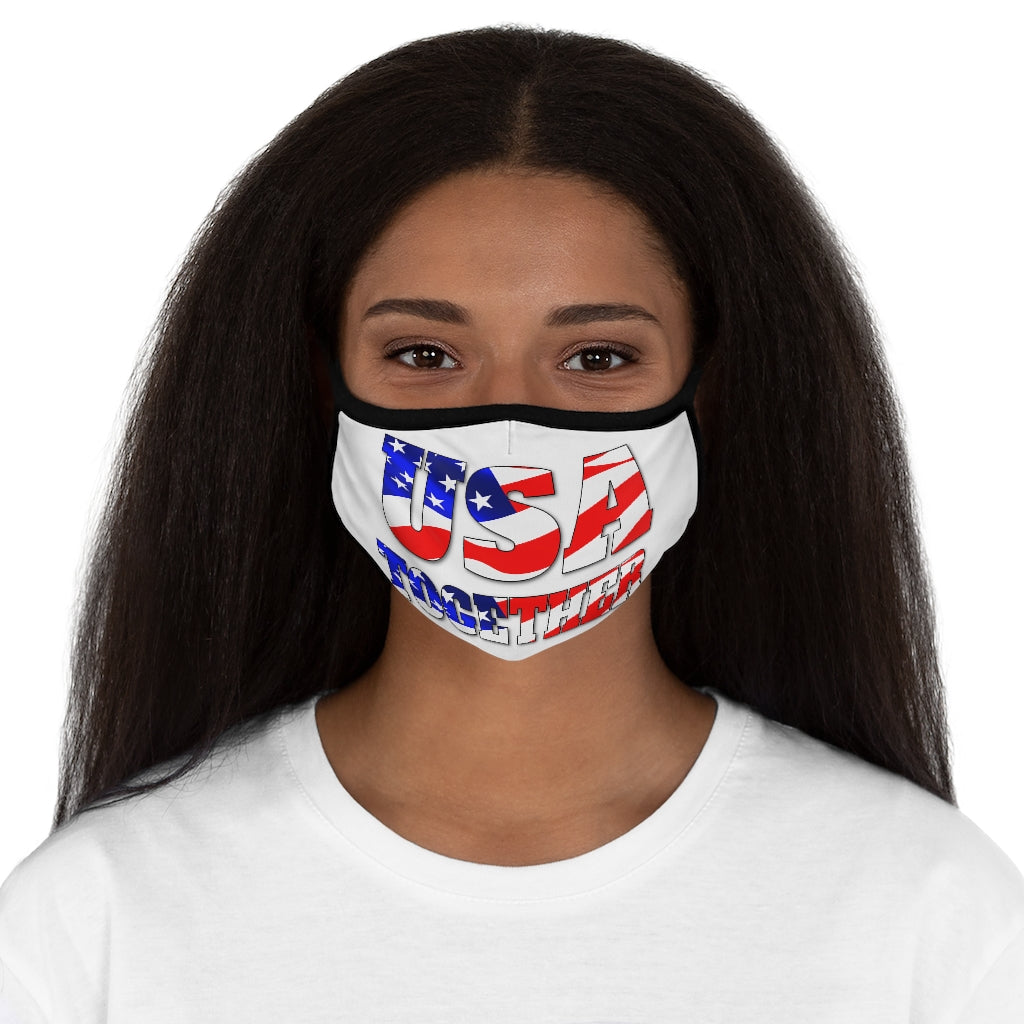 USA TOGETHER Fitted Polyester Face Mask