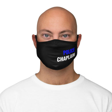 BLUE POLICE CHAPLAIN Fitted Polyester Face Mask