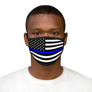 POLICE FLAG Mixed-Fabric Face Mask