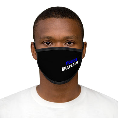 POLICE CHAPLAIN BLUE Mixed-Fabric Face Mask