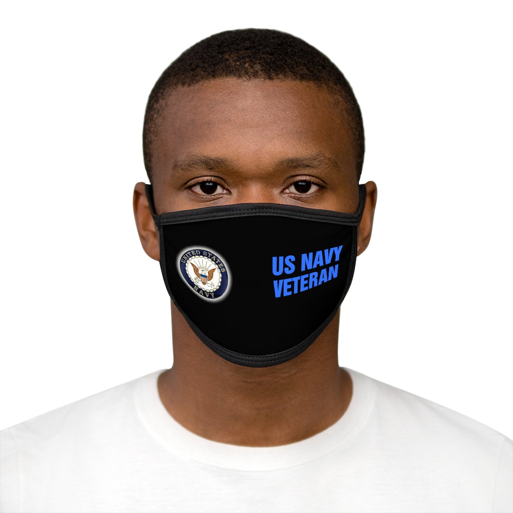 US NAVY VETERAN Mixed-Fabric Face Mask