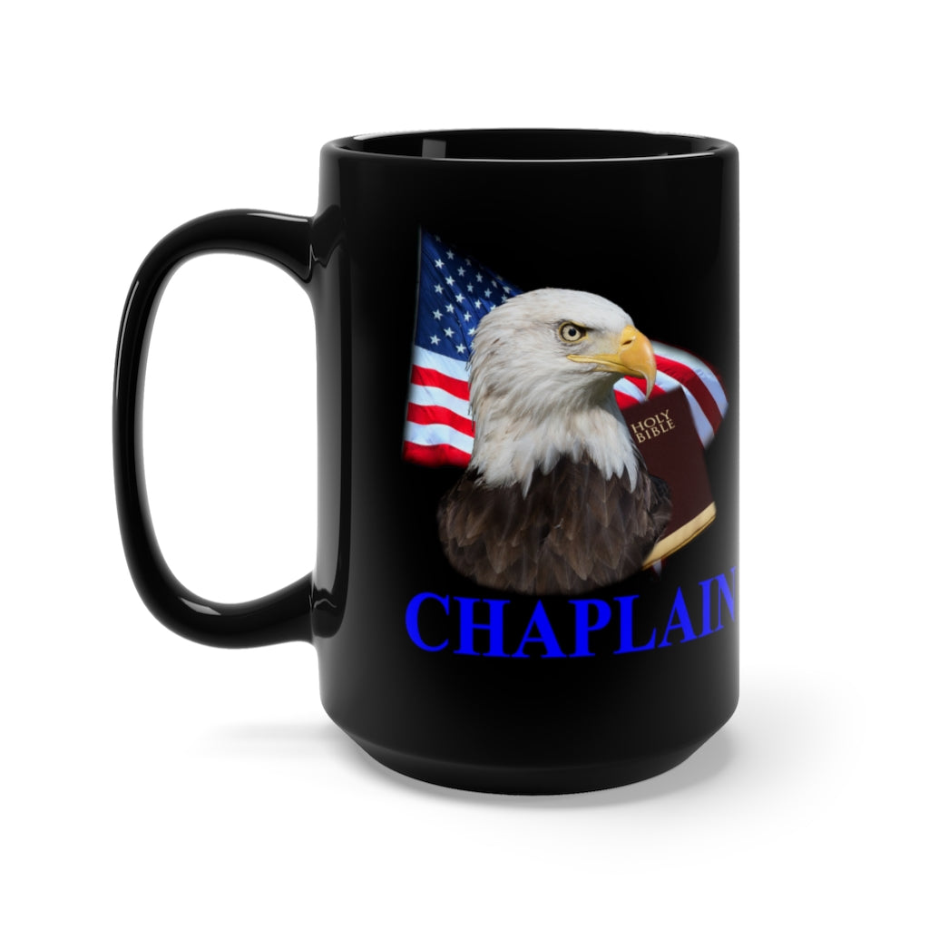 CHAPLAIN Black Mug 15oz