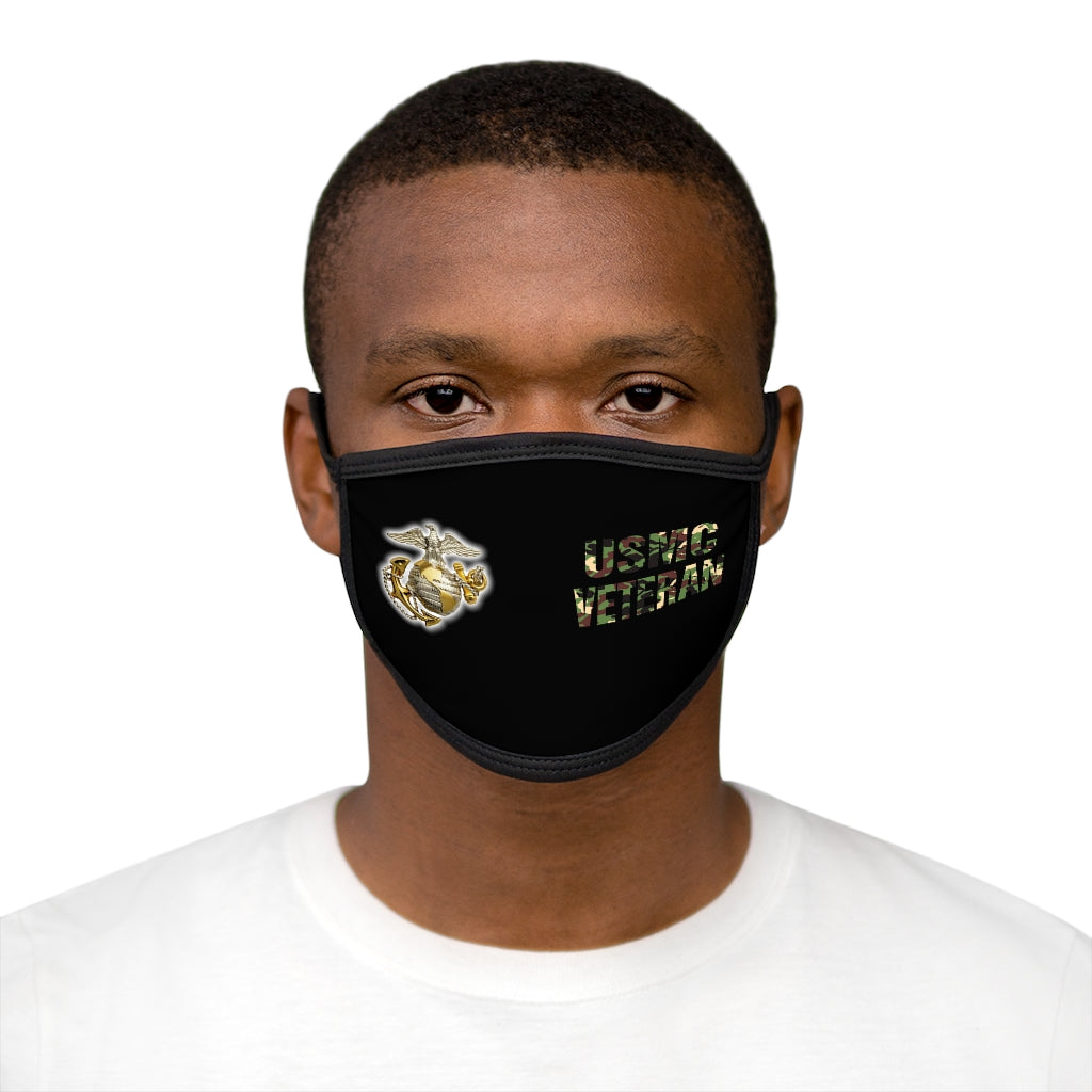 USMC VETERAN Mixed-Fabric Face Mask