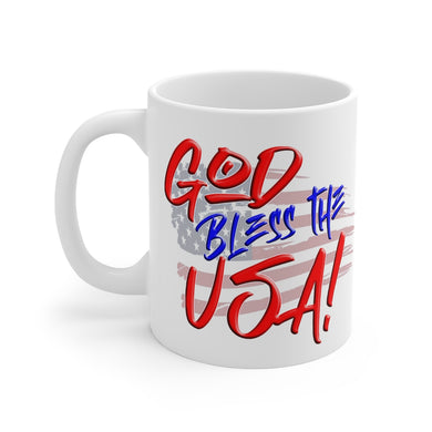 GOD BLESS THE USA Mug 11oz