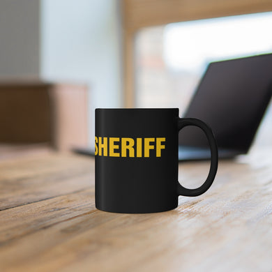 SHERIFF Black mug 11oz