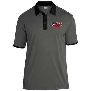 AMERICA FIRST Heather Contender Contrast Polo
