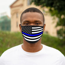 Load image into Gallery viewer, POLICE FLAG Mixed-Fabric Face Mask