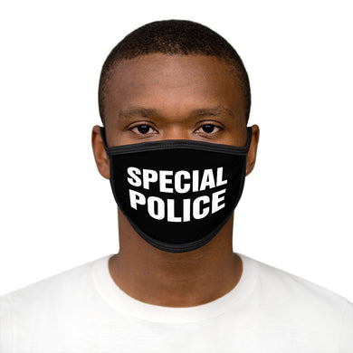 SPECIAL POLICE Mixed-Fabric Face Mask