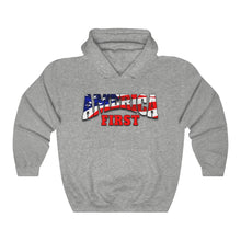 Load image into Gallery viewer, AMERICA FIRST Heavy Blend™ Hooded Sweatshirt