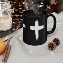 Load image into Gallery viewer, WHITE CROSS MUG 11oz