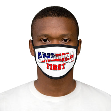 AMERICA FIRST Mixed-Fabric Face Mask