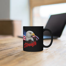 Load image into Gallery viewer, STRENGTH Black mug 11oz