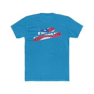 PROUD AMERICAN Men's Cotton Crew Tee