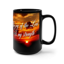 Load image into Gallery viewer, JOY OF THE LORD Black Mug 15oz