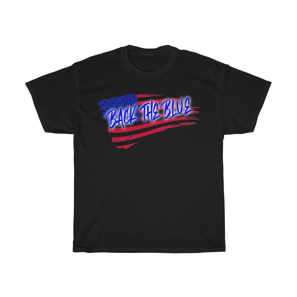 BACK THE BLUE Cotton Tee