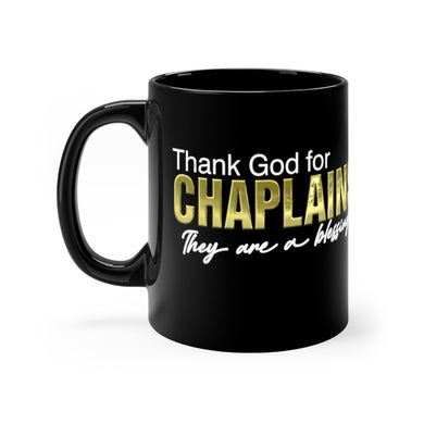 THANK GOD FOR CHAPLAINS mug 11oz
