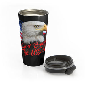 GOD BLESS USA Stainless Steel Travel Mug