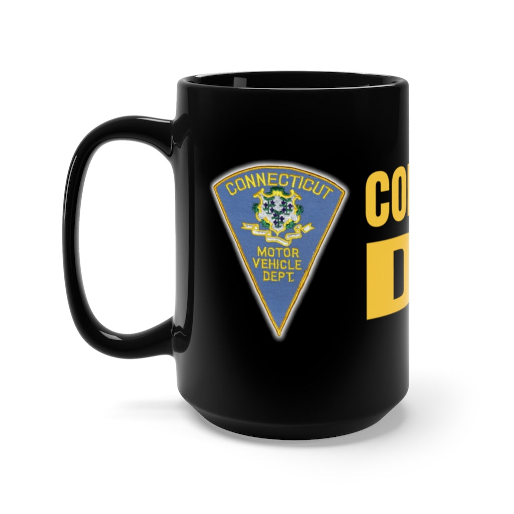 CT DMV Black Mug 15oz