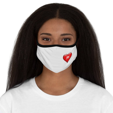 NURSE HEART Fitted Polyester Face Mask