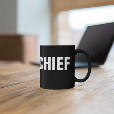 CHIEF Black mug 11oz