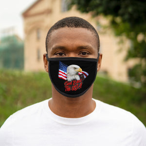 GOD BLESS USA Mixed-Fabric Face Mask