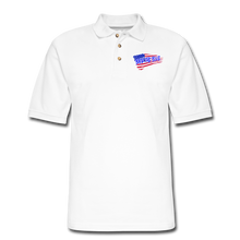 Load image into Gallery viewer, BACK THE BLUE Pique Polo Shirt - white