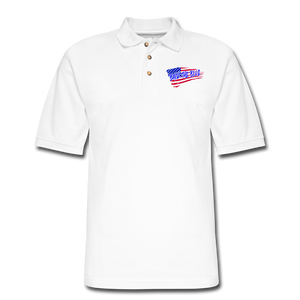 BACK THE BLUE Pique Polo Shirt - white