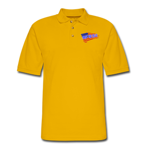 BACK THE BLUE Pique Polo Shirt - Yellow